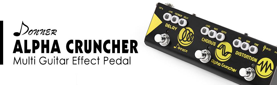 Amazon Com Donner Multi Guitar Effect Pedal Alpha Cruncher 3 Type