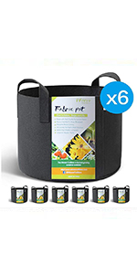 WINNER OUTFITTERS 6-Pack 10 Gallon Grow Bags