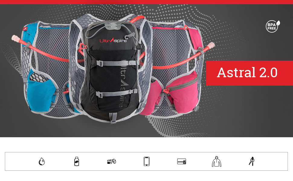 86a18db254 Amazon.com: Ultraspire Astral 2.0 Women's Hydration Pack   2 litres ...