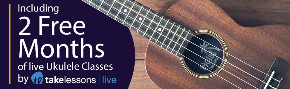 Hola Music HM-124LFT+ Concert Left Hand Ukulele Bundle Case strap picks 2 months free lessons