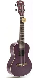Concert Ukulele Deluxe Series Purple HM-124PP+ 24 Inch Aquila Nylgut Strings Gig Bag Strap Picks