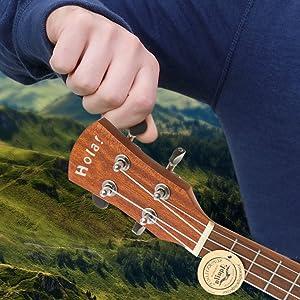 Hola! Music HM-124LFT+ Deluxe Series Concert Left Handed Hand Ukulele Tip How To tune Ukulele