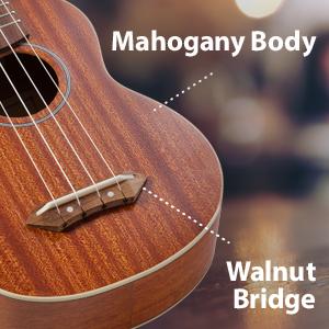 Hola! Music HM-121MG+  Wood Mahogany Body Walnut Bridge
