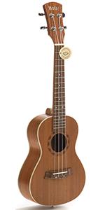 Concert Ukulele Deluxe Series HM-124MG 24 Inch Mahogany Aquila Nylgut Strings  Gig Bag Strap Picks