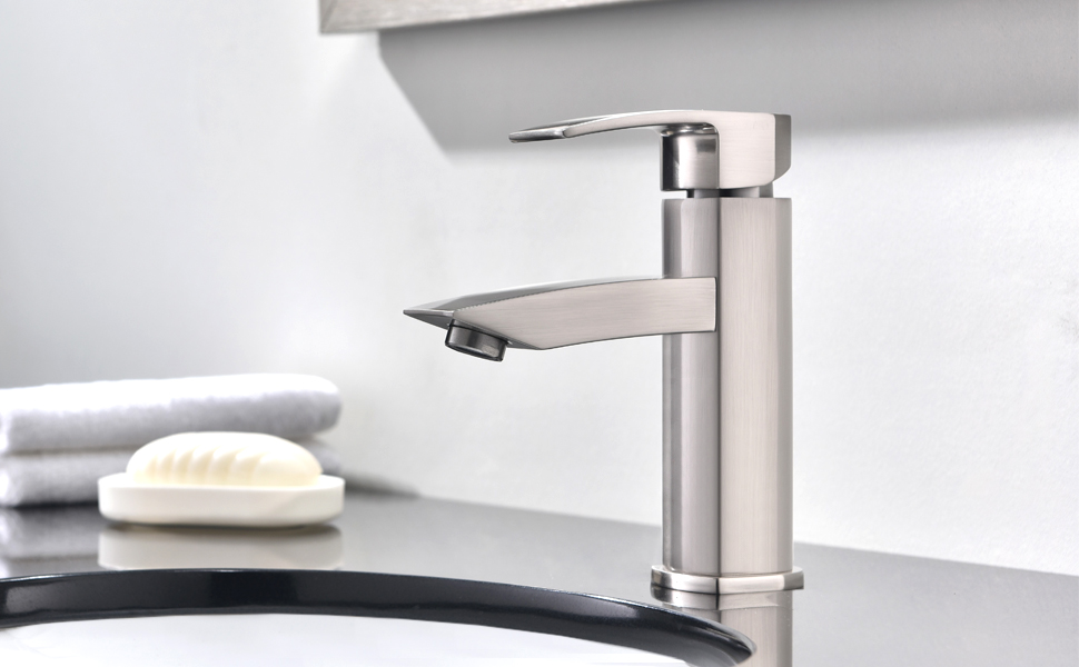 Hotis Widespread Single Handle Single Lever Centerset Stainless ...