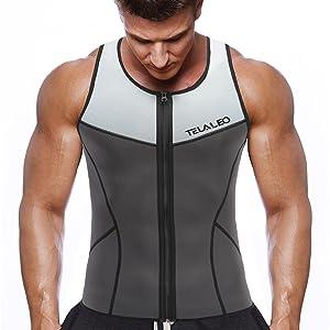 7b6817aa70 Amazon.com  TELALEO Neoprene Sauna Vest for Men