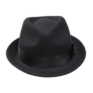 4ed9959c029 Sedancasesa Mens Felt Fedora Hat Unisex Classic Manhattan Indiana Jones Hats.  One Side. The other side. Front