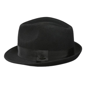 ba09a1f3189 Sedancasesa Mens Felt Fedora Hat Unisex Classic Manhattan Indiana Jones Hats.  One Side. The other side