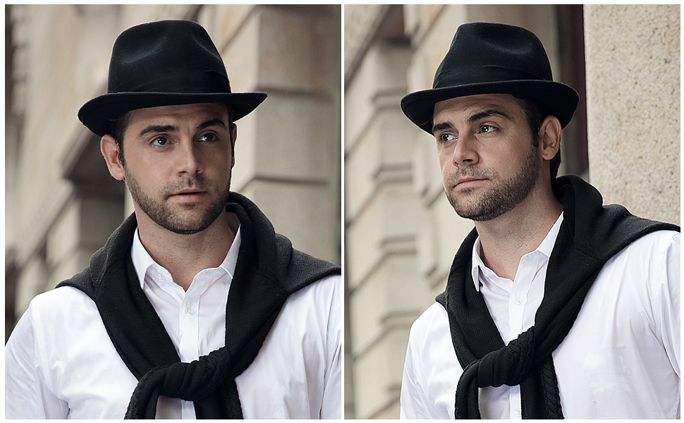 Sedancasesa Mens Felt Fedora Hat Unisex Classic Manhattan Indiana Jones Hats 3c570f04232