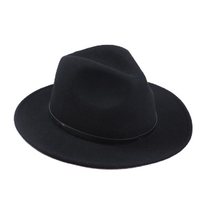 1ab1bb59a08 Sedancasesa Women Men s Crushable Wool Felt Outback Hat Wide Brim Fedora  Hats Black
