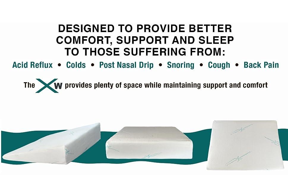 Amazon Com Xtreme Comforts 7 Quot Memory Foam Bed Wedge