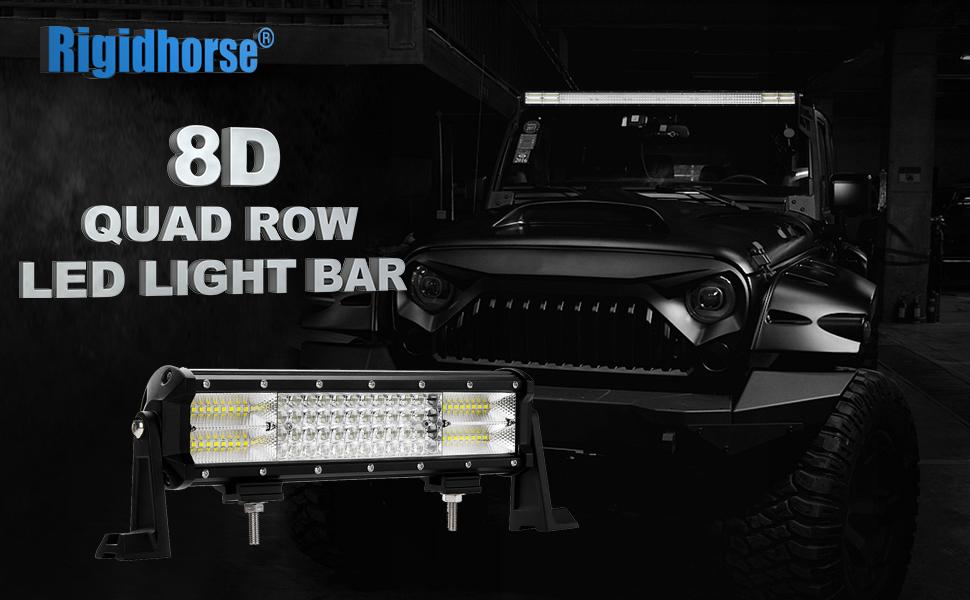 Amazon.com: LED Light Bar Rigidhorse Quad Row 12Inch 252W Light Bar ...