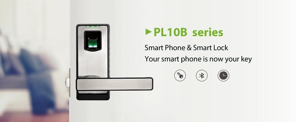 ZKTeco BL10 Biometric Door Lock  Keyless Home Entry With Your Smartphone U0026  Fingerprint