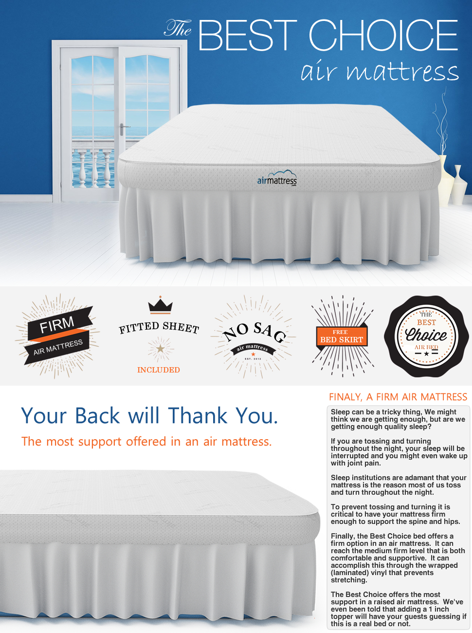 air mattress best choice raised inflatable bed with fitted sheet and bed skirt builtin high capacity airbed pump