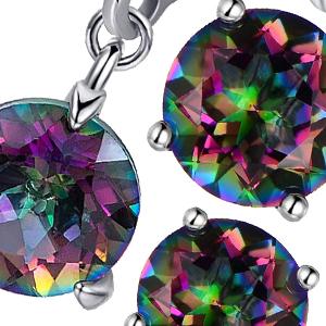 natural rainbow quartz earrings for women men and girls