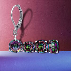 rainbow earrings for women and men,6mm earrings,8mm earrings,oval earrings,leverback earrings