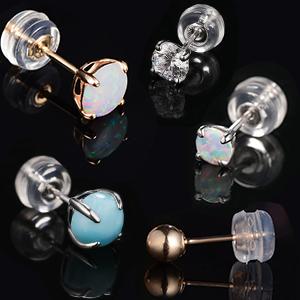 earring backings for gold earrings,diamond earring,opal earrings,cz earrings,larimar earrings