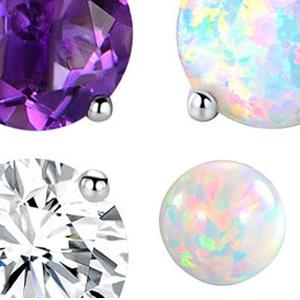 sterling silver earrings for women,silver earrings,stud earrings for girls,opal earrings for girls