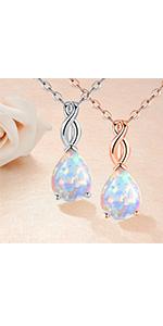teardrop opal necklace for women