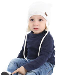 27a02326a5d Amazon.com  XIAOHAWANG Baby Hat Cute Bear Toddler Earflap Beanie ...