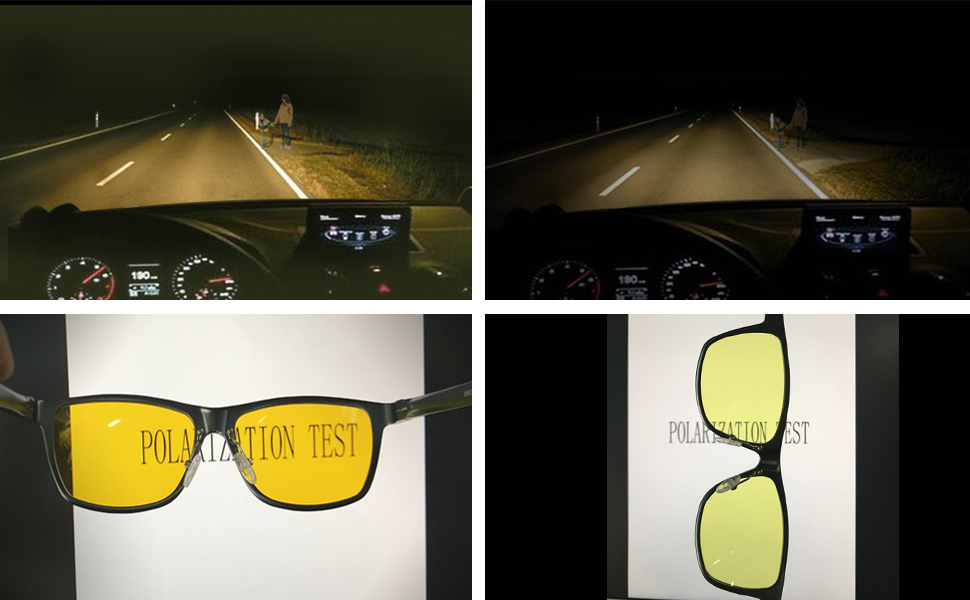 551d3c04597 BIRCEN HD Night Vision Night Lens   Polarized yellow lenses reduce night  driving glare and eye strain