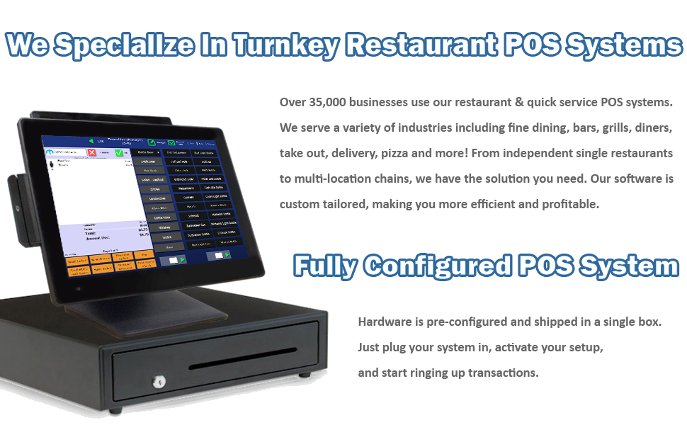Amazon com : Restaurant Point of Sale System - Includes Touchscreen