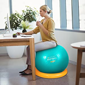 ball exercise chair yoga desk office base stability 65cm balls gym fitness exercise ball seat