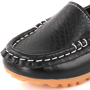 Synthetic Leather Loafer Shoes for Kids