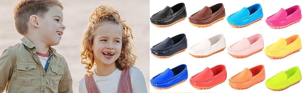kid boy girls loafers dress shoes