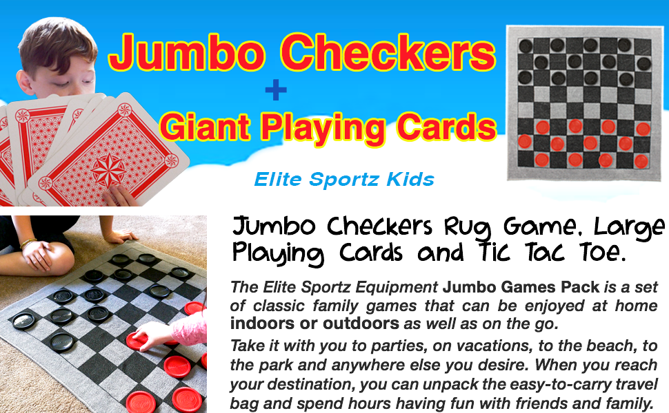 "Jumbo 5/"" Large Giant Pack Playing Cards Portable Game Outdoor Travel Family Deck"