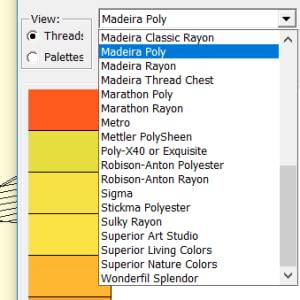 Embroidery Thread Lists in Embrilliance Essentials
