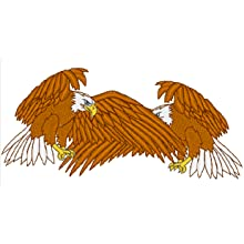 Eagle, embroidery, overlap, drk, remove hidden stitches, rhs