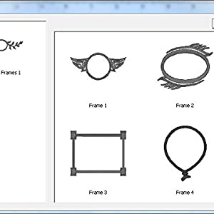 Library shapes stock designs embroidery frames elements files embrilliance