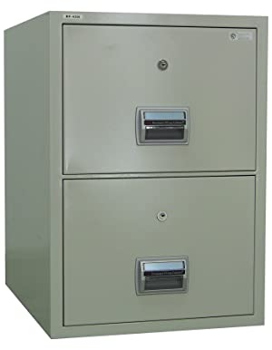 amffc200 fireproof and burglary resistant 2 drawer file cabinet