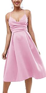 2266a5996d9c ... v neck dress adjustable spaghetti straps dress party dresses pocket · Women s  Deep ...