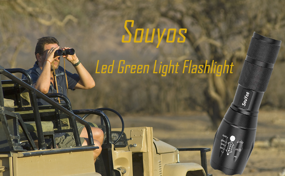 JRXyDfxn Linterna LED antorcha Linterna de luz Verde Solo Modo de luz Verde con la Cuerda para Plantas Crecen Noche Observaci/ón
