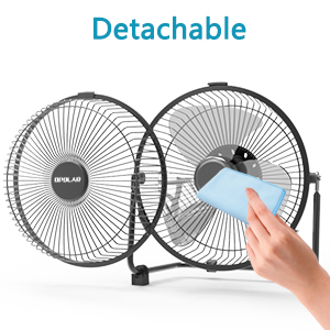fan blades can be cleaned