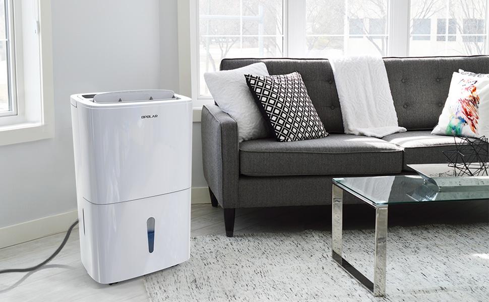 Water-Full Auto Shut Off Basement 7L Water Tank Garage Drain Hose Home Bedroom OPOLAR 70 Pint Dehumidifier Humidity /& Timer Control Kitchen