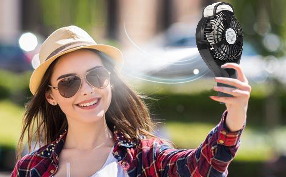 OPOLAR Handheld Personal Water Misting Fan for Travel, Portable  Rechargeable Fan with 2200mAh Battery, Battery Operated or USB Powered,  Small Air