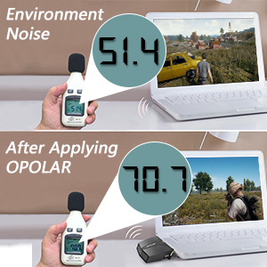 OPOLAR Laptop Fan Cooler with Temperature Display, Rapid