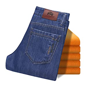 d49fd555 ... fleece lined, midweight, washed jeans. Two colors for your choice
