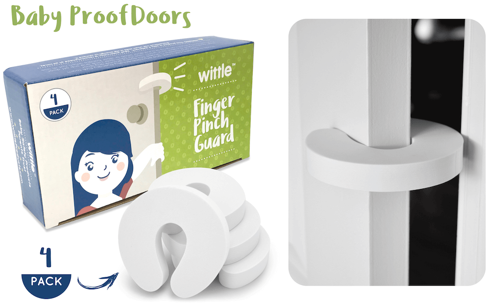 baby proof door stopper foam and finger guard