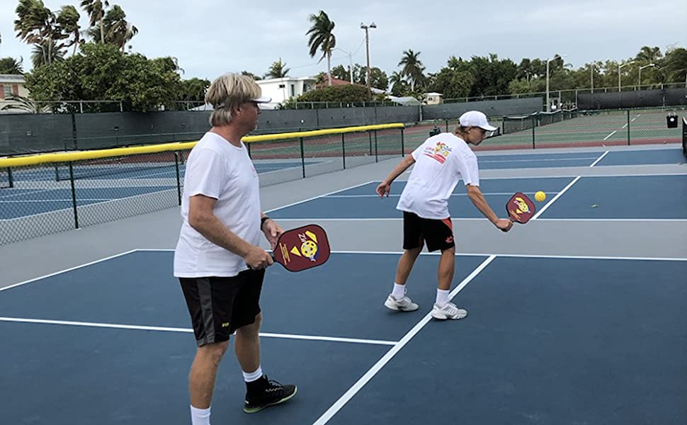 Age is not a problem for pickleball game. Neither for Zingther Pickleball Paddle