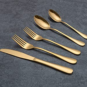 Berglander Titanium Gold Plated Stainless Steel Mini spoon/£/¬Coffee Spoons ice cream spoon Golden Mocca Spoon Pack of 6