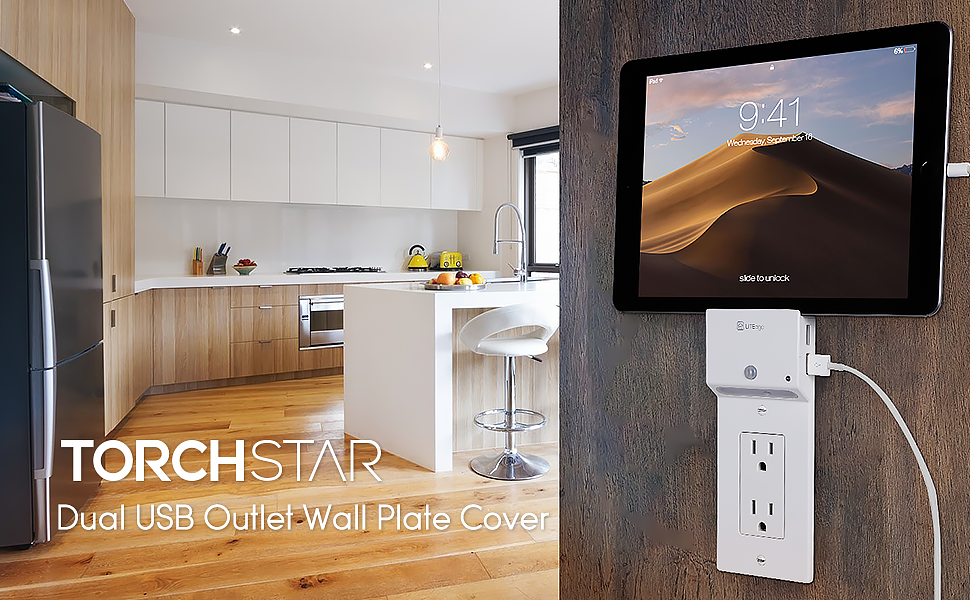 Decor USB Charging Wall Plate Cover