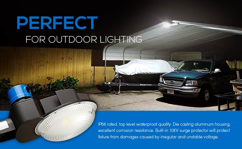 70W LED Barn Light 7200Lm Amazon Brightest Security Flood Light Photocell D