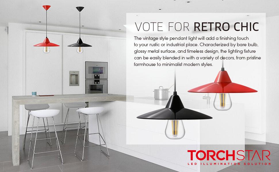 Industry Style Pendant Light Fixture, Vintage Metal Factory Ceiling ...