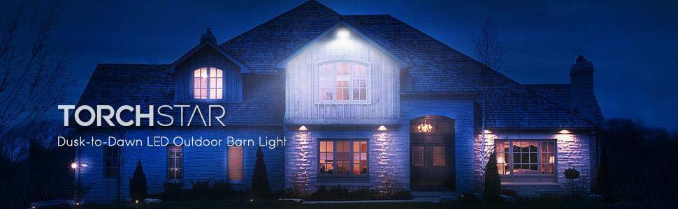 40W 3000K Warm White TORCHSTAR 2 PACK Dusk-to-dawn LED Outdoor Barn Light