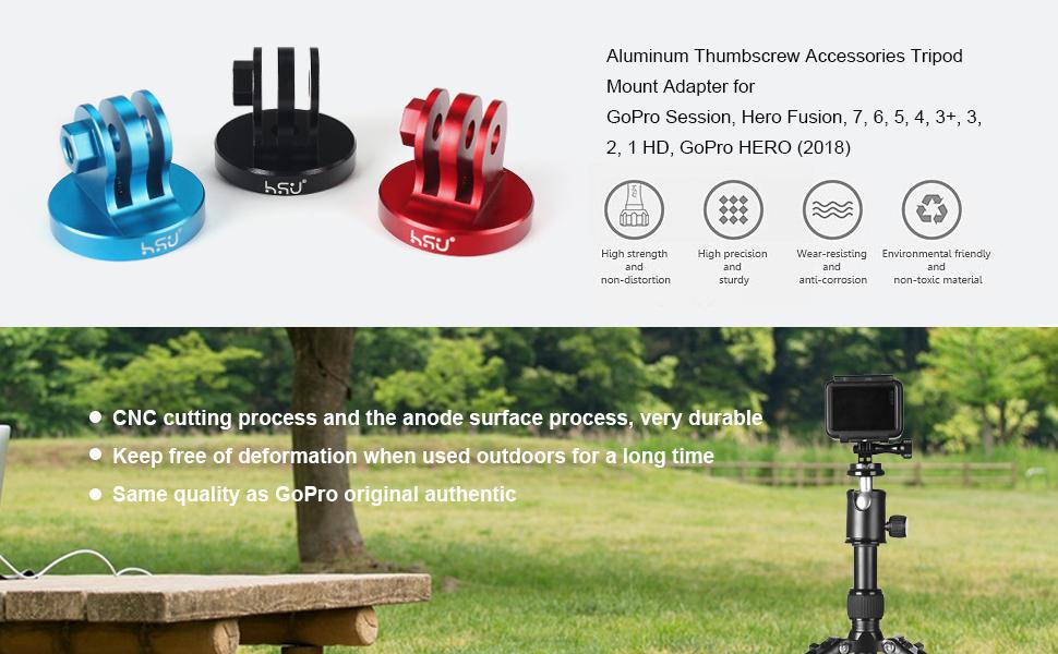 Aluminum Thumbscrew + Tripod Mount Adapter for Gopro