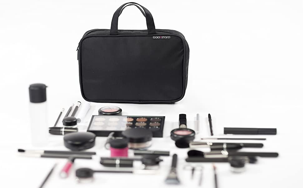 13352e3863 Amazon.com   Makeup Bag   Cosmetic Travelling Organizer ...